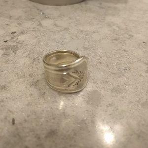 Vintage Handmade silver spoon ring
